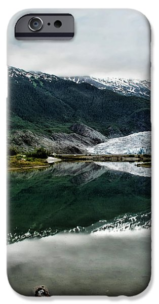Tongass iPhone Cases - Reflection of Mendenhall iPhone Case by Heather Applegate