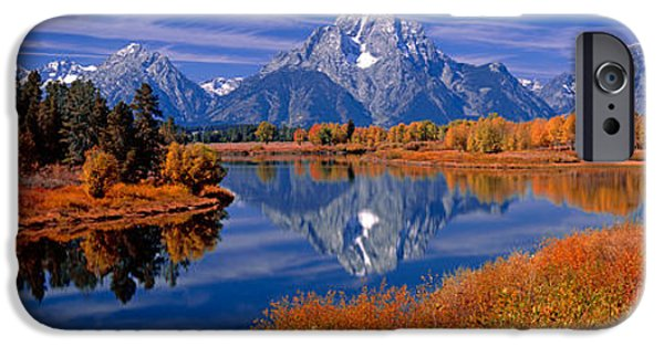 Moran iPhone Cases - Reflection Of Mountains In The River iPhone Case by Panoramic Images
