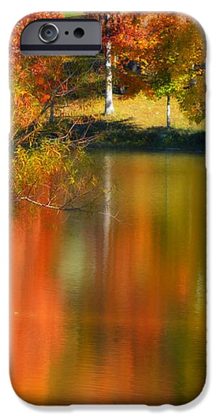 Reflection  of My Thoughts  Autumn  Reflections iPhone Case by Peggy  Franz