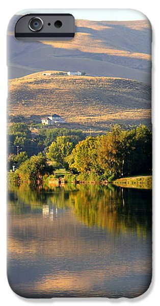 Reflection of Prosser Hills iPhone Case by Carol Groenen