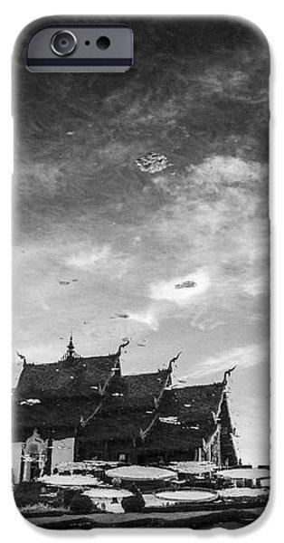 Reflection of royal park Rajapruek temple in the water  iPhone Case by Setsiri Silapasuwanchai