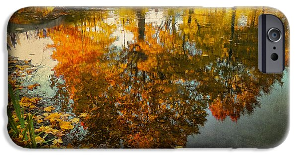 Boston Ma iPhone Cases - Reflection of the fall iPhone Case by Ludmila Nayvelt