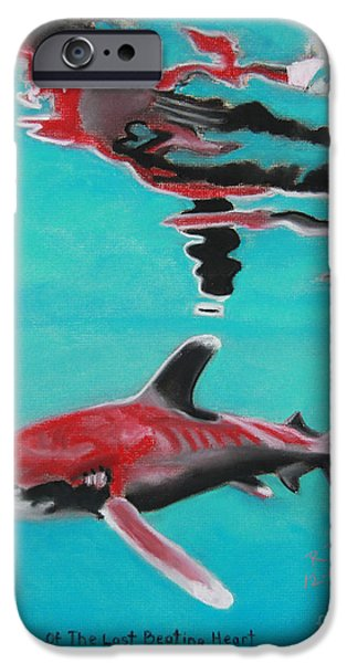 Shark Pastels iPhone Cases - Reflection Of The Last Beating Heart iPhone Case by Robert Timmons