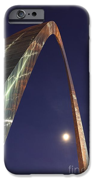 Stainless Steel iPhone Cases - Reflection of Thunder on the Arch - The Gateway Arch - St. Louis Arch iPhone Case by Lee Dos Santos