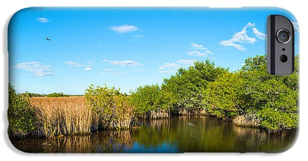 National Preserves iPhone Cases - Reflection Of Trees In A Lake, Big iPhone Case by Panoramic Images