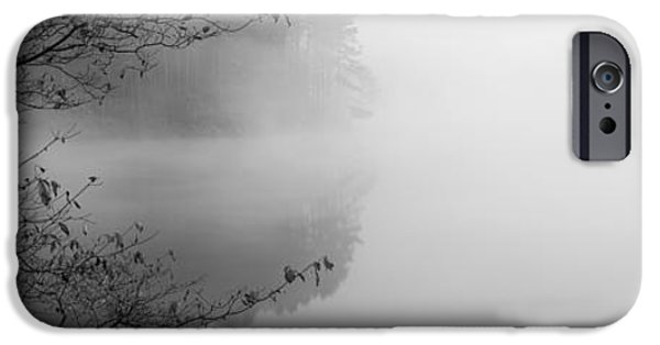 Urban Scenes iPhone Cases - Reflection Of Trees In A Lake, Lake iPhone Case by Panoramic Images