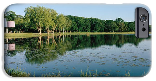 Warner Park iPhone Cases - Reflection Of Trees In Water, Warner iPhone Case by Panoramic Images
