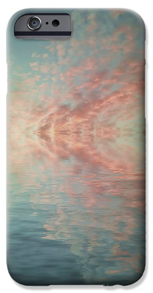 Tree Art Print iPhone Cases - Reflection of Turquoise Skies iPhone Case by Holly Martin