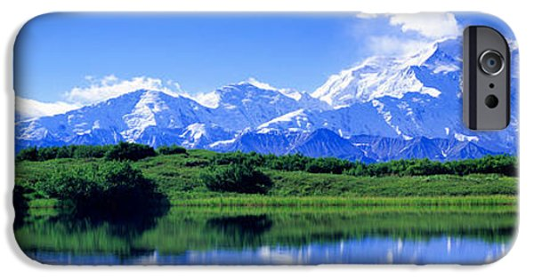 Mountain iPhone Cases - Reflection Pond, Mount Mckinley, Denali iPhone Case by Panoramic Images