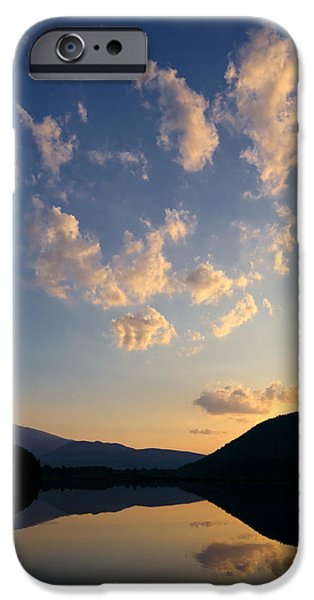 Androscoggin iPhone Cases - Reflection Pond New Hampshire iPhone Case by Stephanie McDowell