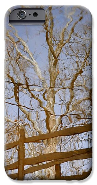 Oak Creek iPhone Cases - Reflection iPhone Case by Frozen in Time Fine Art Photography