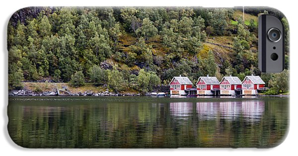 Norway iPhone Cases - Reflection Time iPhone Case by Finesse Fine Art