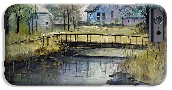 Impressionistic Landscape Paintings iPhone Cases - Reflections #2 iPhone Case by Ryan Radke