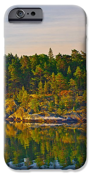 Interior Scene iPhone Cases - Reflections 2 Sweden iPhone Case by Marianne Campolongo