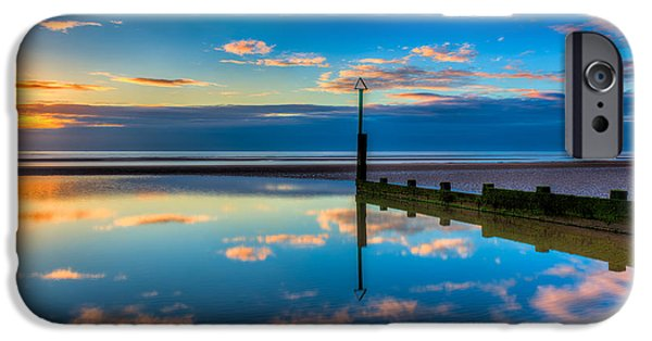 North Sea iPhone Cases - Reflections iPhone Case by Adrian Evans
