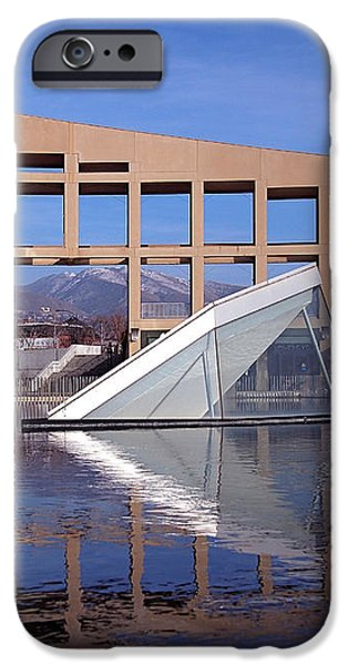 Reflections at the Library iPhone Case by Rona Black