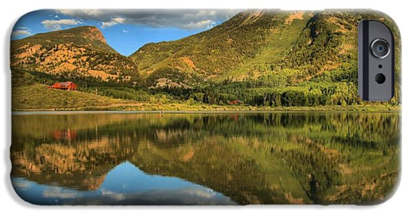 Beaver Lake iPhone Cases - Reflections In Beaver Lake iPhone Case by Adam Jewell
