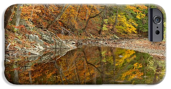 Bucks County iPhone Cases - Reflections In Bucks County Pennsylvania iPhone Case by Adam Jewell