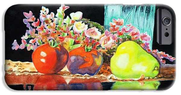 Interior Still Life iPhone Cases - Reflections in Color iPhone Case by Kathy Braud