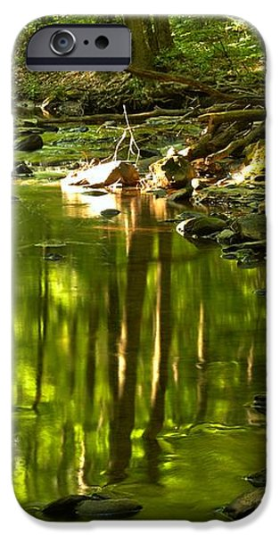 Reflections In Hells Hollow Creek iPhone Case by Adam Jewell