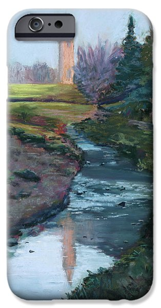 River View Pastels iPhone Cases - Reflections in History iPhone Case by Mary Benke