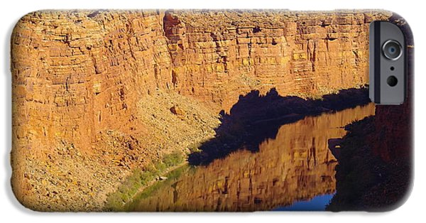 Arizonia iPhone Cases - Reflections in the Colorado River iPhone Case by Jeff  Swan