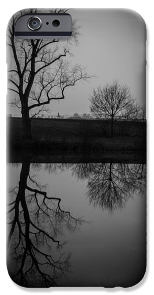 Farm Stand iPhone Cases - Reflections in Time iPhone Case by Miguel Winterpacht