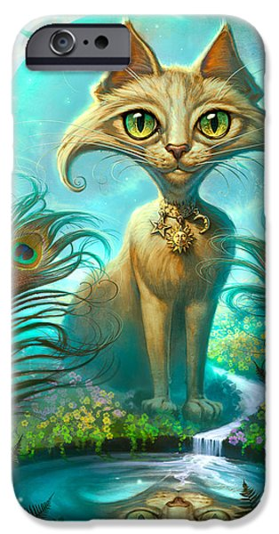 Cat Prints iPhone Cases - Reflections iPhone Case by Jeff Haynie