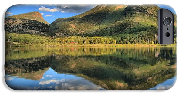 Beaver Lake iPhone Cases - Reflections Near Crystal iPhone Case by Adam Jewell