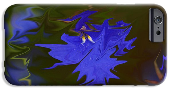 Abstract Flowers Images iPhone Cases - Reflections Of A Flower iPhone Case by Carol Lynch