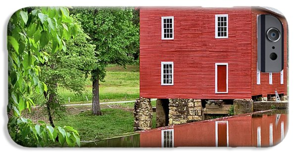 Grist Mill iPhone Cases - Reflections of a Retired Grist Mill - Square iPhone Case by Gordon Elwell