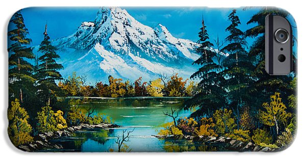 Recently Sold -  - Bob Ross Paintings iPhone Cases - Reflections of Fall iPhone Case by C Steele