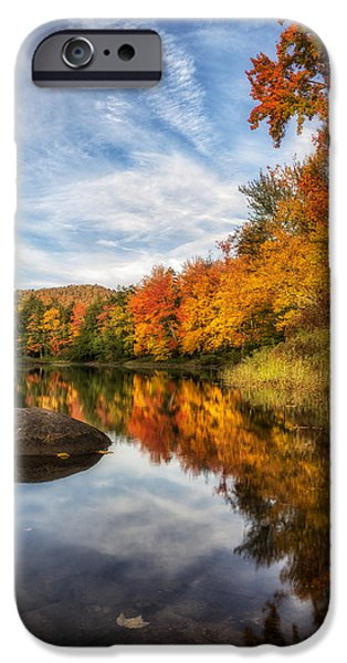Beauty Mark iPhone Cases - Reflections of Fall iPhone Case by Mark Papke