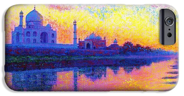 Ancient Paintings iPhone Cases - Reflections of India iPhone Case by Jane Small