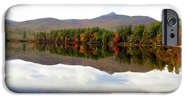 Mt Chocorua iPhone Cases - Reflections of Mt. Chocorua iPhone Case by Ellen Ryan