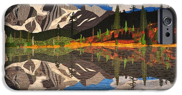 Mountain Tapestries - Textiles iPhone Cases - Reflections of Mt.Shuksan iPhone Case by Jo Baner
