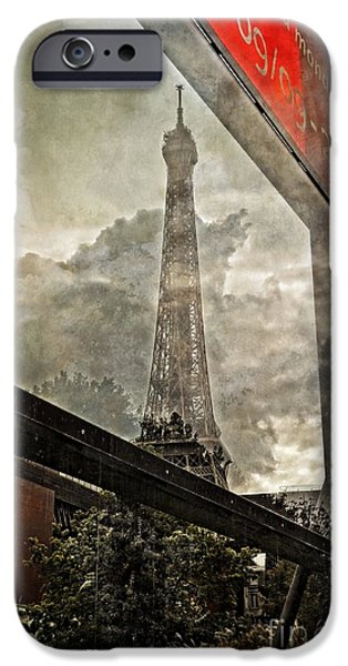 Reflection Of Trees iPhone Cases - Reflections of Paris iPhone Case by Mary Machare