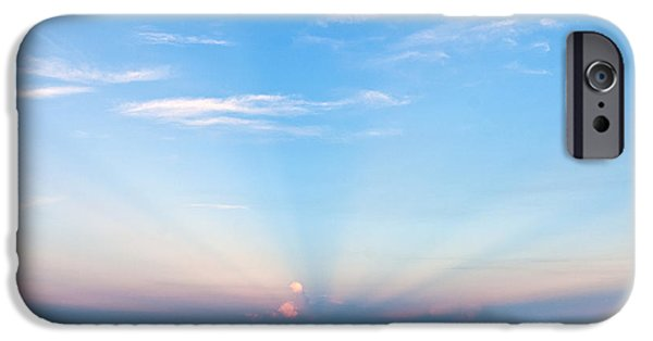 Reflections Of Nature iPhone Cases - Reflections of Sunset iPhone Case by Michelle Wiarda