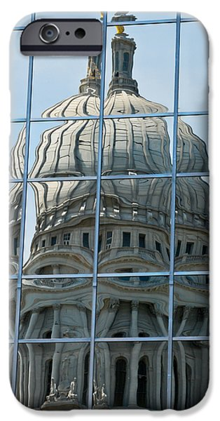 Christi Kraft iPhone Cases - Reflections of the Capitol iPhone Case by Christi Kraft