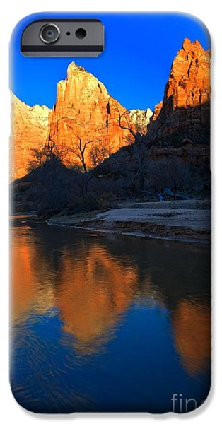 Patriarch iPhone Cases - Reflections Of The Zion Patriarchs iPhone Case by Adam Jewell