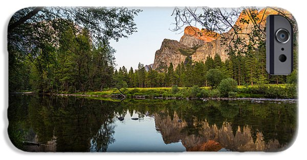 Cathedral Rock iPhone Cases - Reflections of Valley View iPhone Case by Mike Lee