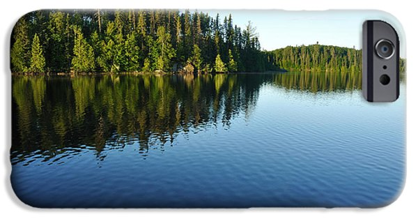 Bwcaw iPhone Cases - Reflections on a Wilderness Lake iPhone Case by Mark Herreid