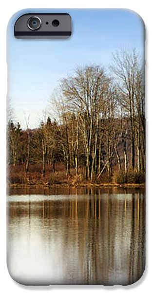 Reflections On Golden Pond iPhone Case by Christina Rollo