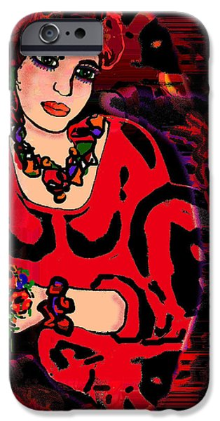 Lips iPhone Cases - Reflections On Loving iPhone Case by Natalie Holland