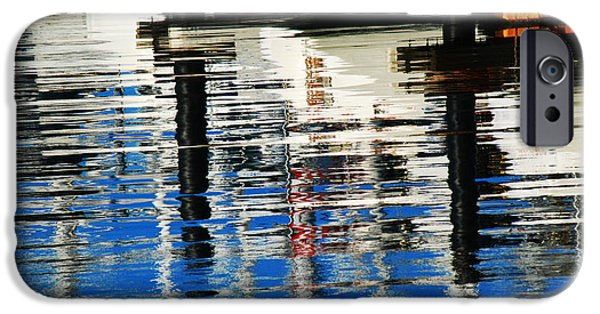 Sausalito Digital Art iPhone Cases - Reflections Sausalito California iPhone Case by DeAnna Denise Adams