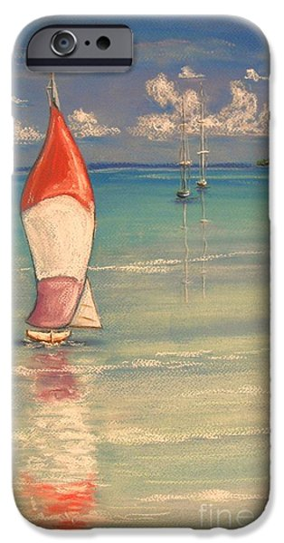 Beach Landscape Pastels iPhone Cases - Reflections iPhone Case by The Beach  Dreamer