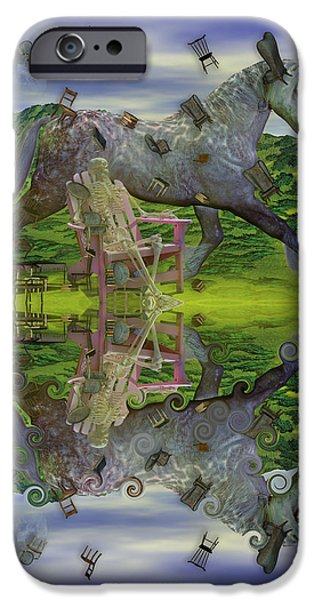 The View Mixed Media iPhone Cases - Reflective Oz iPhone Case by Betsy A  Cutler