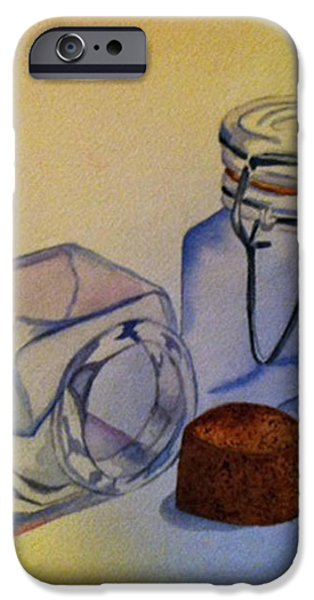 Reflective Still Life Jars iPhone Case by Brenda Brown