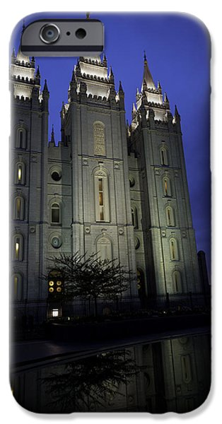 Reflective iPhone Cases - Reflective Temple iPhone Case by Chad Dutson