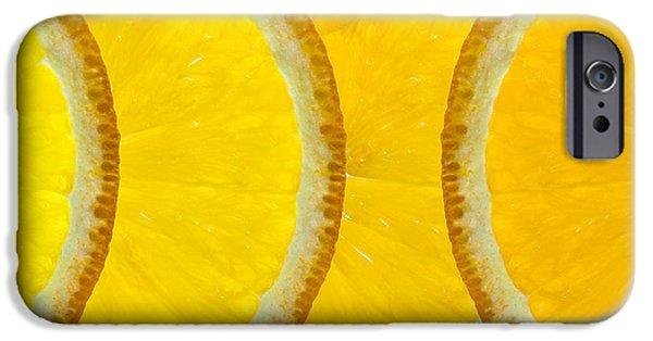 Orange Digital iPhone Cases - Refreshing Orange Slices  iPhone Case by Natalie Kinnear